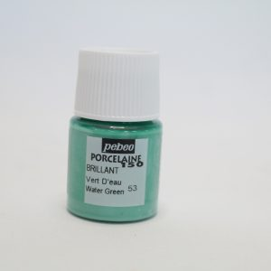 Porselein verf blauwgroen